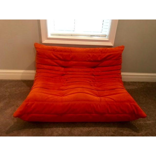 Michel Ducaroy for Ligne Roset Orange Togo Sofas - Set of 3 - Image 7 of 11