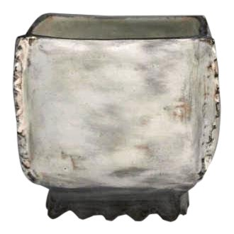Kang Hyo Lee, Puncheong Squared Bowl With Ash Glaze 8, Ca. 2012 For Sale