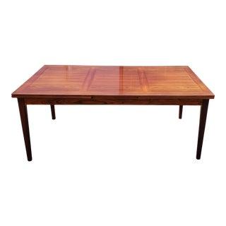 Vintage Mid Century Skovby Danish Modern Rosewood Dining Table For Sale