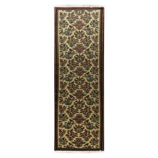 Qom Wool Persian Rug - 2′8″ × 12′1″ For Sale