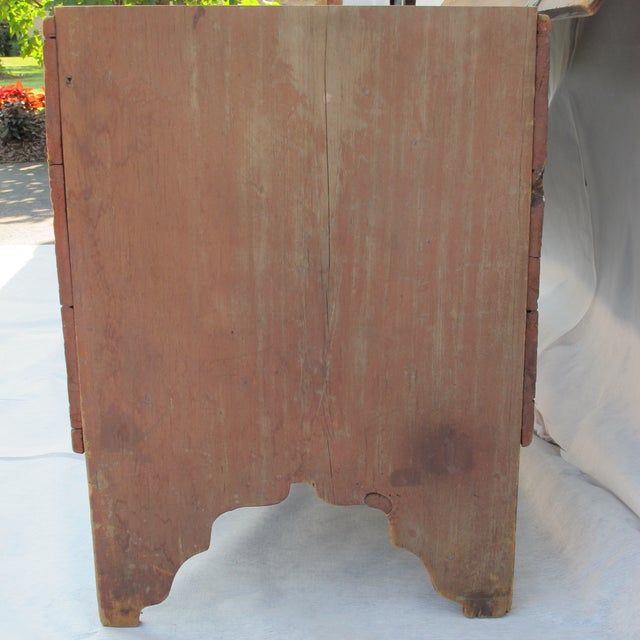 Red Original Red Painted Blanket Chest For Sale - Image 8 of 11