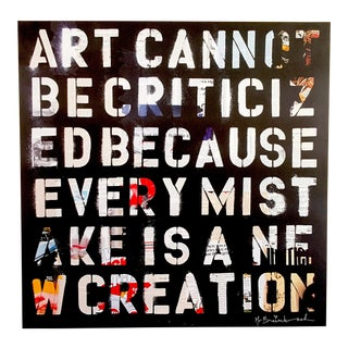 "Mr. Brainwash "" Art Cannot Be Criticized "" Authentic Lithograph Print Pop Art Poster For Sale"