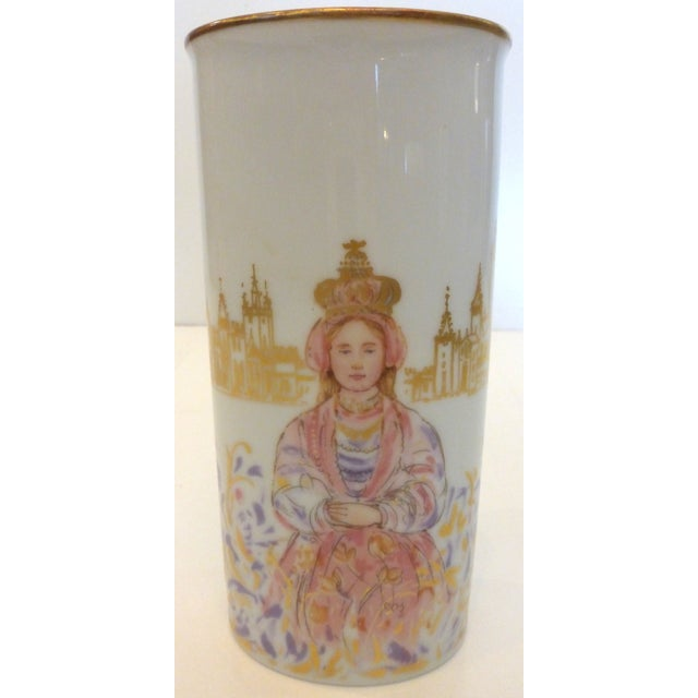 This is a lovely mid-century vase made by Rosenthal. It is called Princessa, for obvious reasons. This beautiful piece is...