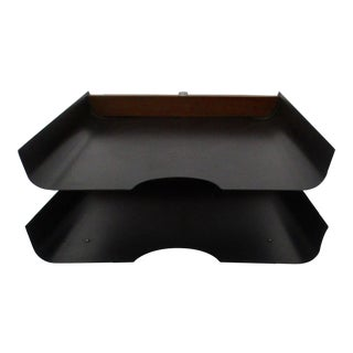 Mid-Century Modern Peter Pepper Products Legal Letter Desk Swivel Tray For Sale