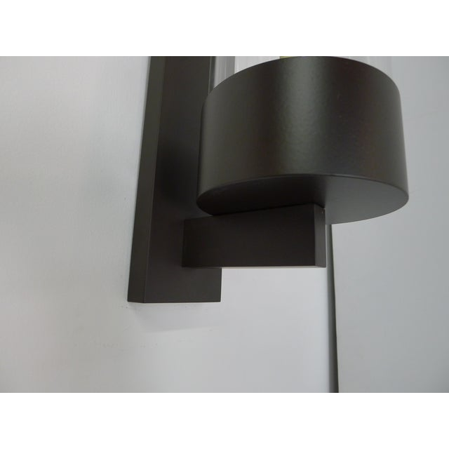 Metal Contemporary Hurricane Sconces Shorter Hurricane by Paul Marra - a Pair For Sale - Image 7 of 9