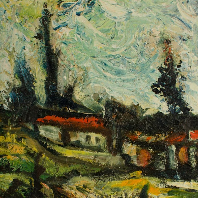 """Mid 20th Century """"Sunday Stroll Home"""" Landscape Oil Painting, Framed For Sale - Image 12 of 13"""