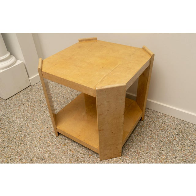 Modern Goatskin End Tables - a Pair For Sale - Image 9 of 10