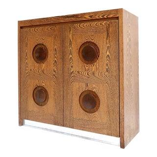 Brutalist Wenge Bar Cabinet For Sale