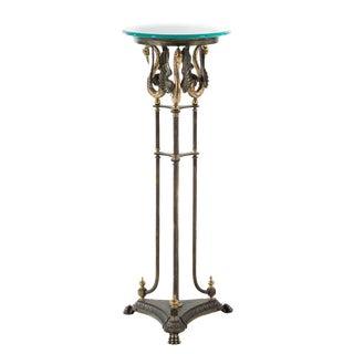 Jansen Style Iron & Brass Pedestal