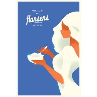 Mads Berg 'Hansen's Yoghurt' Danish Poster