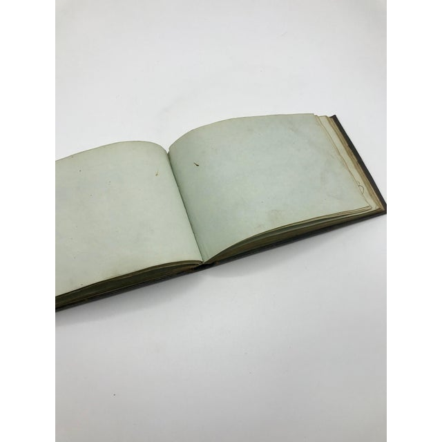 Antique French Personal Leather Journal For Sale - Image 9 of 13