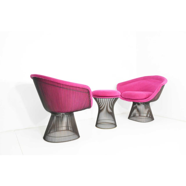 1960s Bronze Warren Platner Lounge Chairs - A Pair For Sale In Dallas - Image 6 of 9