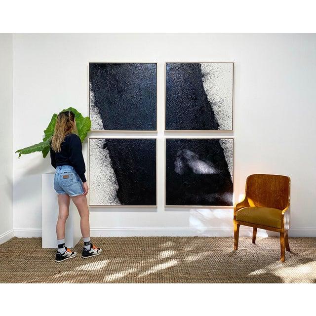"2020s John O'Hara ""Tar, 46 (Decontructed)"" Encaustic Painting, 4 Panels For Sale - Image 5 of 8"