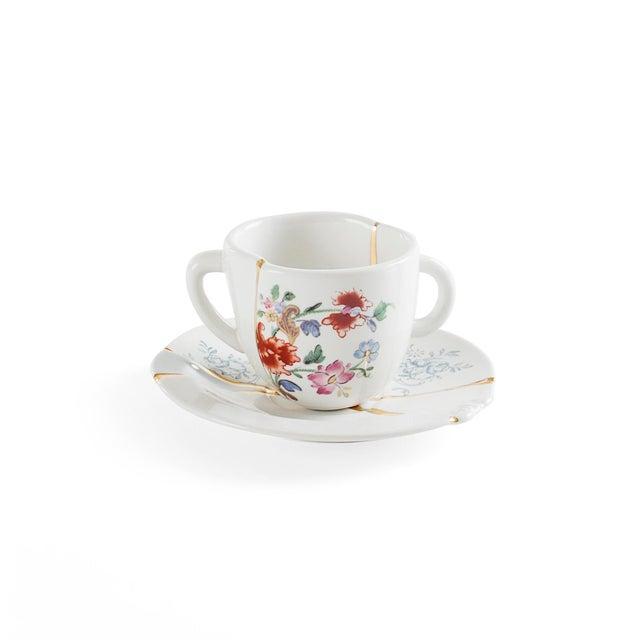 Seletti Seletti, Kintsugi Espresso Cup and Saucer 1, Marcantonio, 2018 For Sale - Image 4 of 4