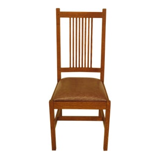 Modern Stickley Arts & Crafts Mission Oak Chair For Sale