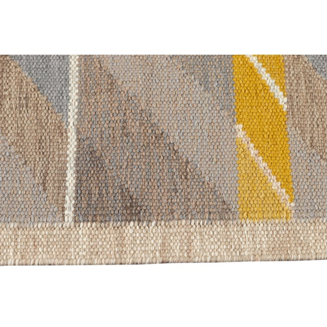 21st Century Modern Scandinavian Style Flat-Weave Rug For Sale In New York - Image 6 of 12