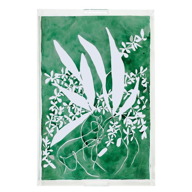 These acrylic trays from Nicolette Mayer features artwork by Kate Roebuck for the Chairish Print Shop.This piece can be...