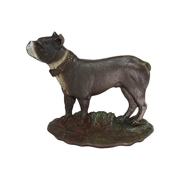 1920s Vintage Cast Iron Dog Doorstop For Sale In Boston - Image 6 of 6