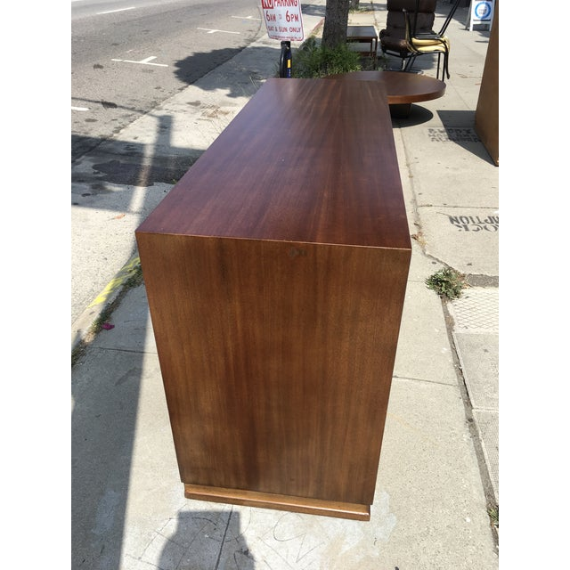 1940s Mid Century Modern Triangle Brand Mahogany Low Dresser For Sale - Image 10 of 11