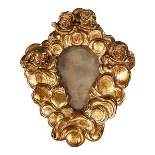 A Rare Italian Baroque Giltwood Mirror For Sale