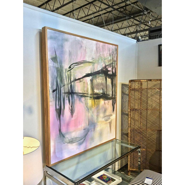 Large Scale Abstract Painting, Custom Wood Frame For Sale - Image 11 of 12
