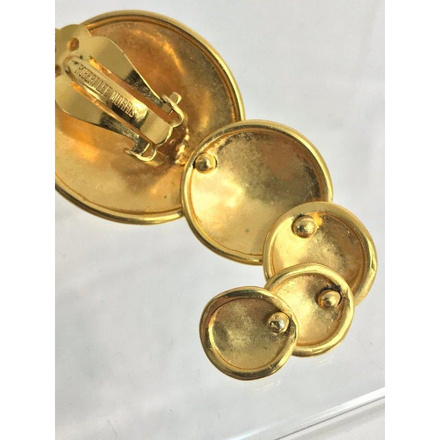 Modern Robert Lee Morris Articulated Matte Gold Earrings 1980s For Sale - Image 3 of 13