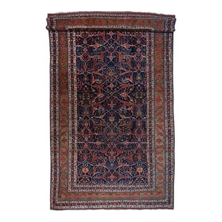 Oversized Blue Ground Garrus Bijar Carpet For Sale