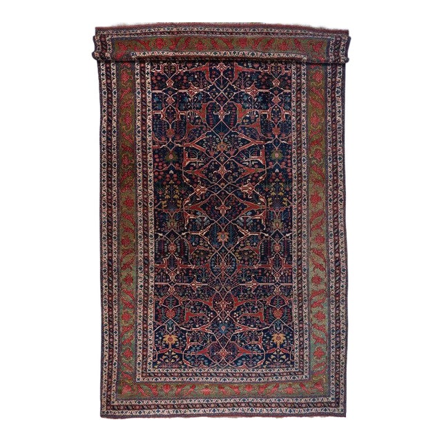 Oversized Blue Ground Garrus Bijar Carpet For Sale