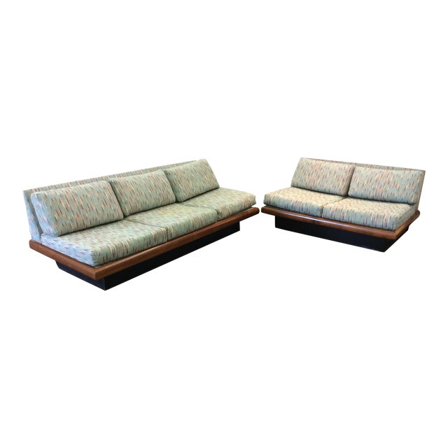 Adrian Pearsall Craft Associates 3 Piece Sectional Sofa For Sale