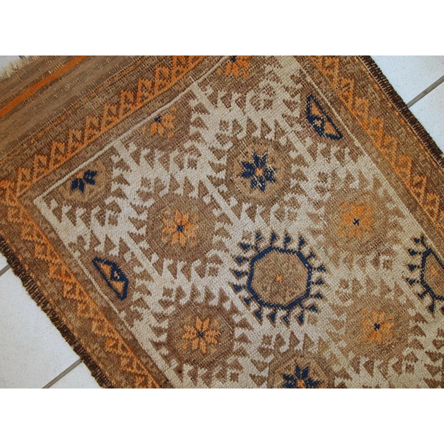 1890s Hand Made Antique Afghan Baluch Rug - 2′1″ × 3′9″ - Image 2 of 10