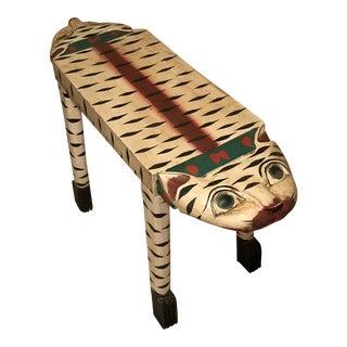 Folk Art Cat Bench