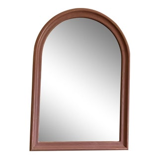 Contemporary Rose Painted Arched Oak Mirror For Sale