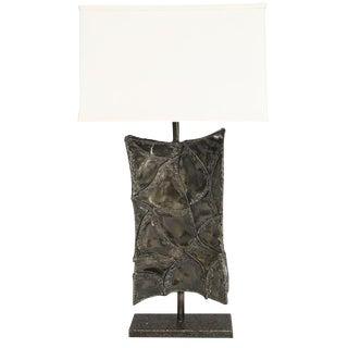 1960's VINTAGE MARCELLO FANTONI BRUTALIST TABLE LAMP For Sale