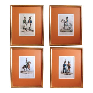 Set of Four Napoleonic Era European Military Regimental Costume Prints For Sale
