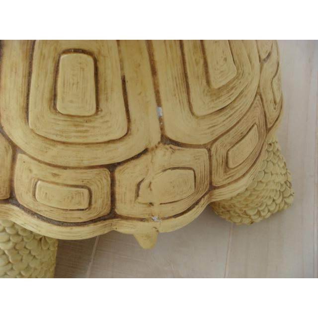Mid-Century Turtle Form Garden Stool Bench Ottoman For Sale - Image 10 of 13