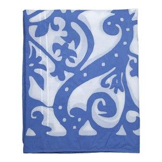 Rumana Applique Bedspread, Queen - Periwinkle For Sale