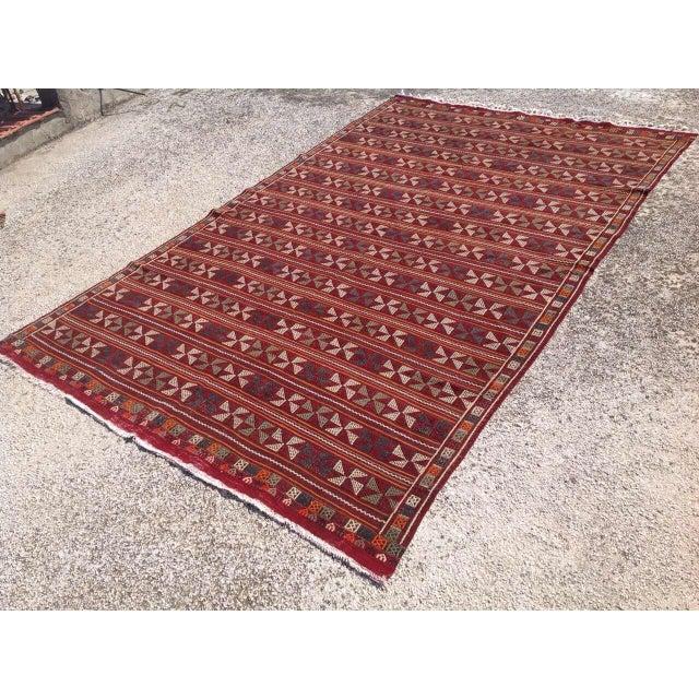 Islamic Vintage Turkish Kilim Rug - 6′7″ × 10′4″ For Sale - Image 3 of 7