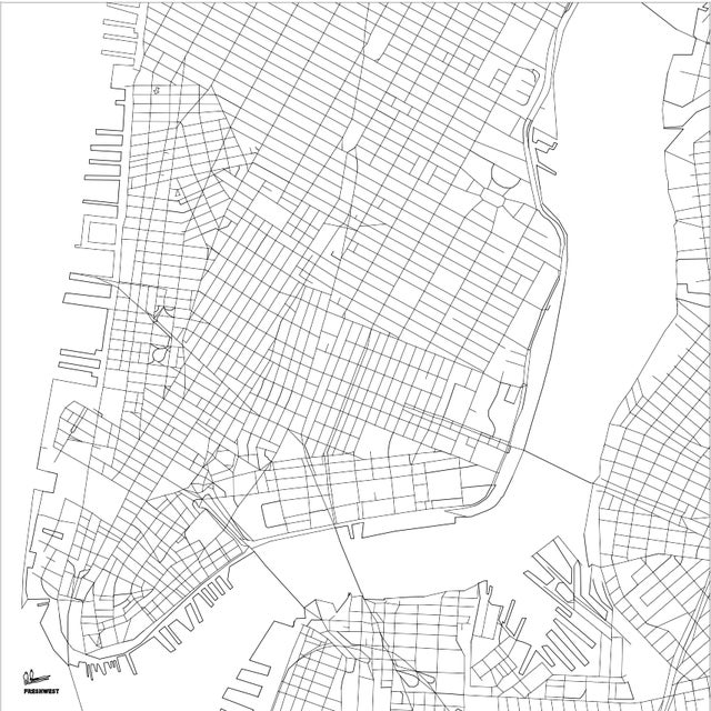 New York City Map Etched Acrylic Coffee Table - Image 6 of 6