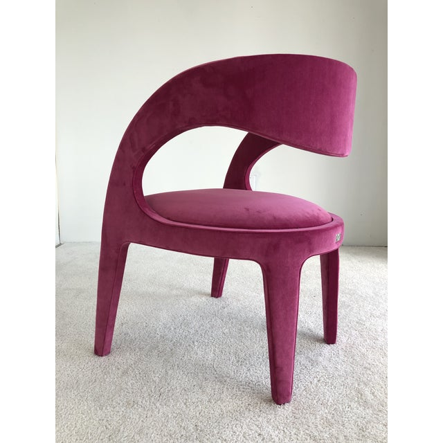Hot Pink Avant-Garde Berenice Fendi Chairs - a Pair For Sale - Image 8 of 9