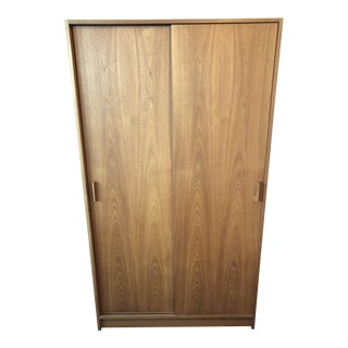 1950s Mid Century Modern Teak Wardrobe For Sale