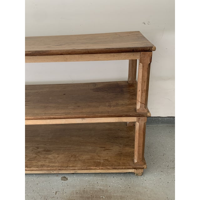 Wood Late 19th Century French Draper Table For Sale - Image 7 of 12