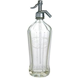 August Koegel Clear Glass Seltzer Bottle