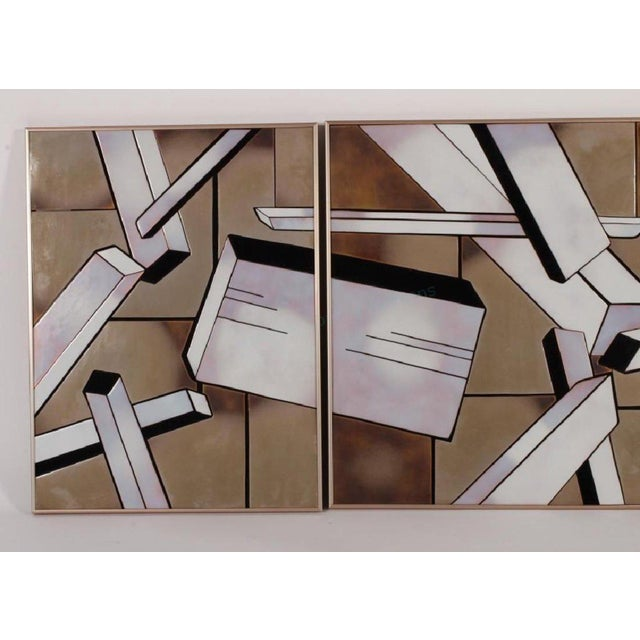 """1970s Vintage Tile Triptych """"Cityscape"""" by Shirley Rosenthal For Sale In Boston - Image 6 of 7"""