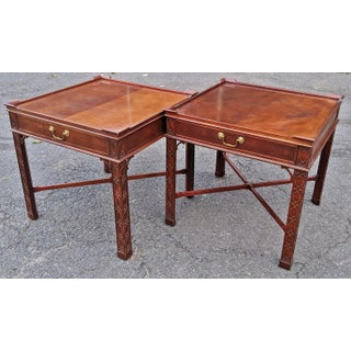 Vintage Baker Chinese Chippendale Tables - a Pair Preview