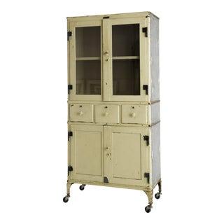 Antique Steel Medical Cabinet For Sale
