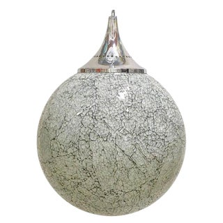 Crackled White Glass Pendants by Fabio Ltd (6 Available) For Sale