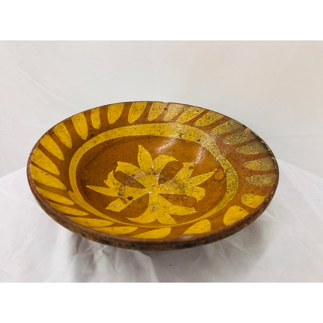 Rustic Antique Hand Crafted Terra-Cotta Bowl For Sale - Image 3 of 10
