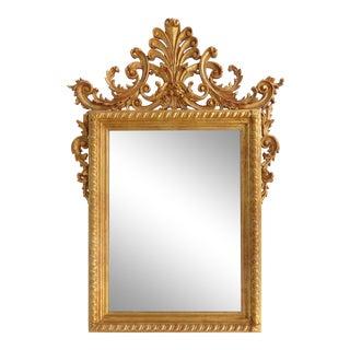 La Barge Italian Giltwood Carved Beveled Mirror