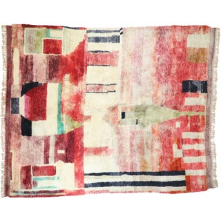 Contemporary Berber Moroccan Postmodern Style Rug - 10′8″ × 12′6″ For Sale