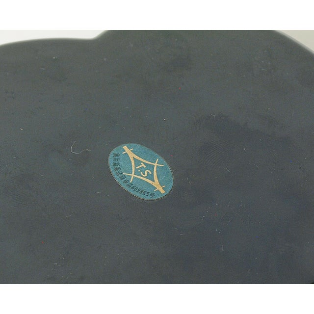 Plastic Vintage Japan Bakelite Accessory Container For Sale - Image 7 of 9